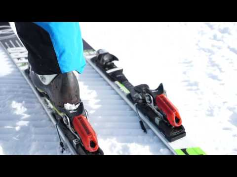 How to clip ski boots into bindings