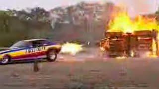 Richard Hammond burns caravan with a jet car - Top Gear - Series 2 - BBC