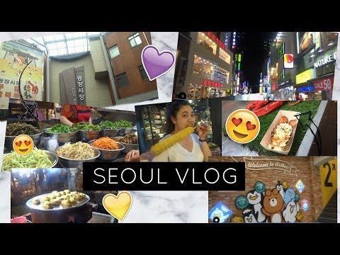 SEOUL VLOG 1- Manila to Incheon, Gwangjang Market, Myeongdong Streetfoods&Shopping