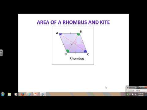 Geometry Lesson 10.2 area of trapezoid, kite and rhombus