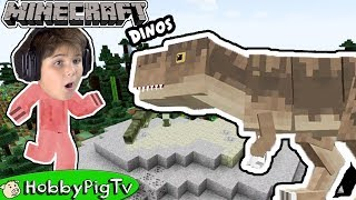 Minecraft T Rex Mod Adventure HobbyPigTV