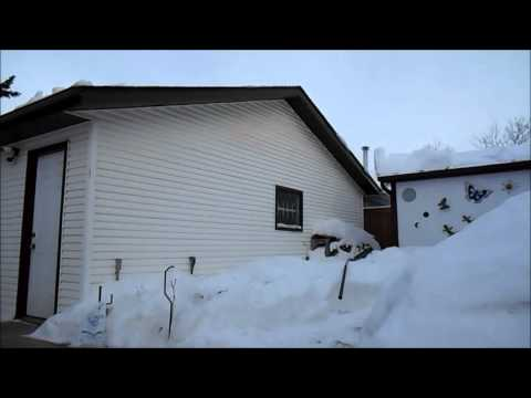 How to Snow Rake a Roof