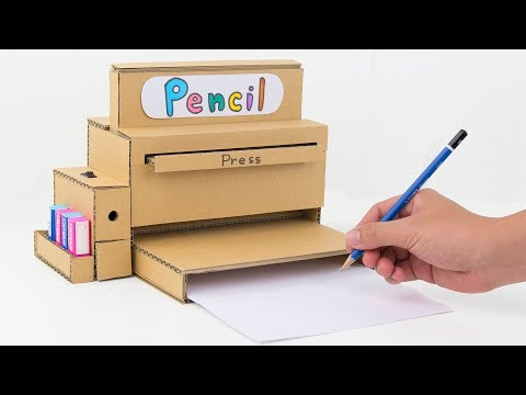 How to Make Pencil Sharpener Machine from Cardboard