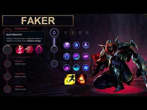 SKT Faker Build Zed - New Runes Season 8 solo vs Lucian (League of Legends Guide)