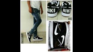 Nike Men Black Court Borough Low Sneakers on feet review - Nikhil Poharkar  HD ...