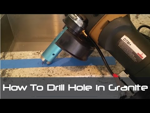 How to Drill Hole in Granite Concrete Countertops tiles for Faucet