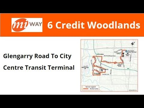 MiWay 2005 New Flyer D40LF #560 On 6 Credit Woodlands (Glengarry Road To City Centre Term)