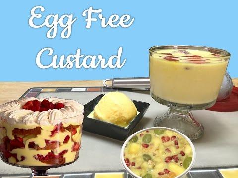 Egg Free Vanilla Custard Pudding Ice Cream Video Recipe | #FIGHTHUNGERCLUB