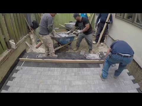 Beginners learn to quickly install Pavers | Concrete and Cement work Contractor