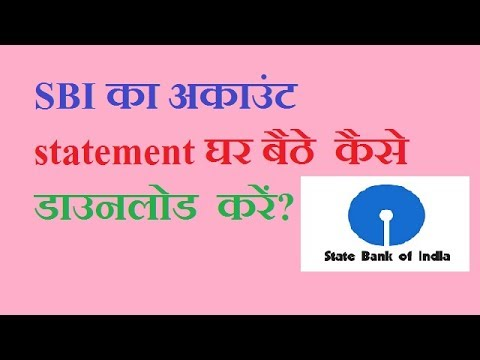 how to download account statement in sbi online