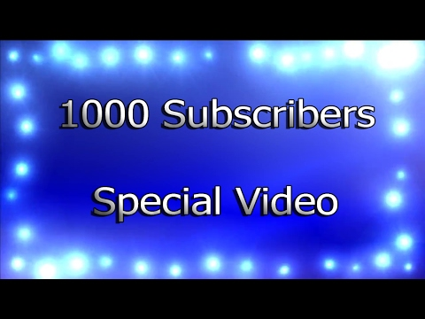 1000 Subscribers Special Video(New esf Character-Goku DBS)