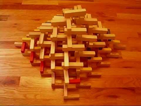 3D Jenga/ Wooden Block Pyramid