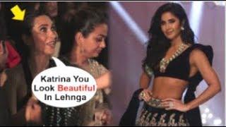 Karisma Kapoor CHEERING For Katrina Kaif While Walking RAMP At Lakme Fashion Week 2019