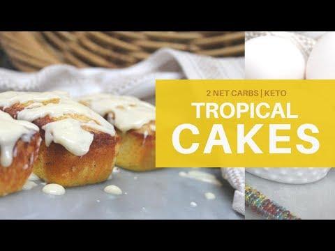 TROPICAL CAKES   2 NET CARBS W/ICING!!!    KETO   #swerve   #ketorecipes   GLUTEN + SUGAR FREE