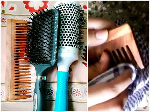 How To Clean Hair Brushes And Wooden Comb
