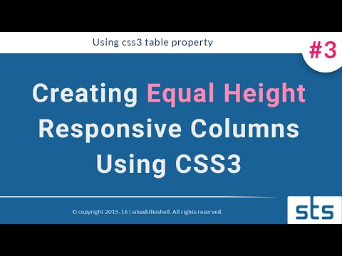 How to create responsive equal height multi columns layout irrespective of content #technique- 3