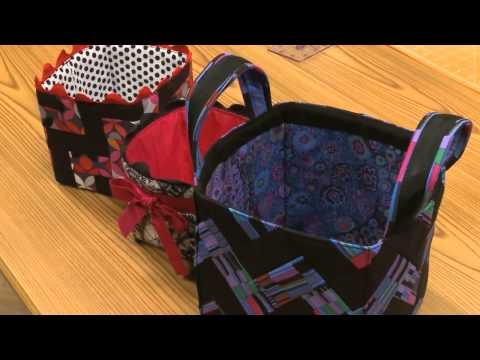 Sew a Cute Chevron Fabric Basket