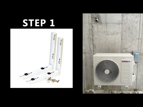 How to Install Mounting Brackets for Mini Split Ductless AC