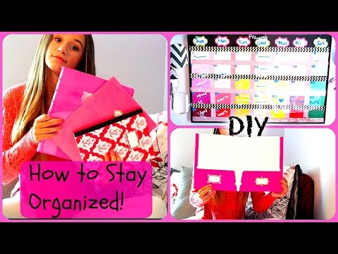 How to Stay Organized for School! | DIY`s + Tips!