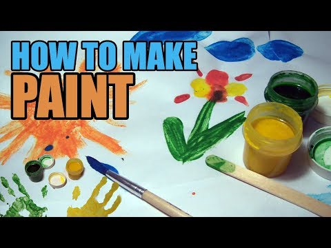 How to Make Paint. Kids DIY