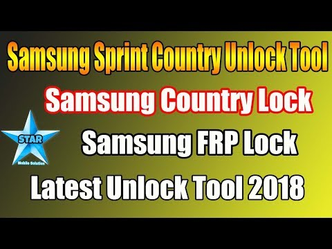 Samsung Sprint Country Unlock Tool | Samsung Country Code Remove | Letest Update 2018