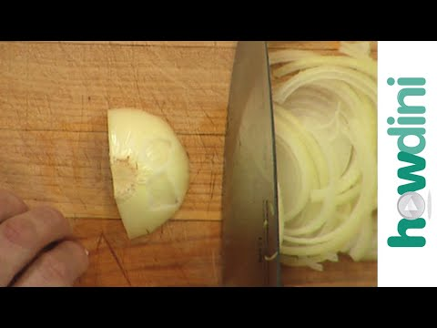 How to thinly slice an onion