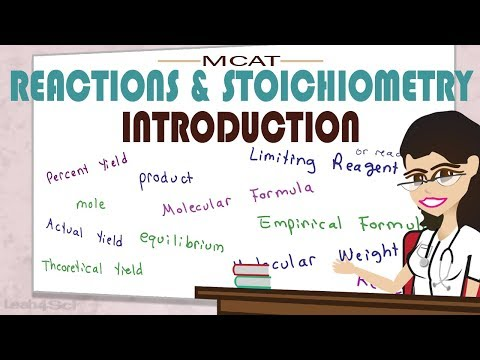 Introduction to Reactions and Stoichiometry in MCAT General Chemistry