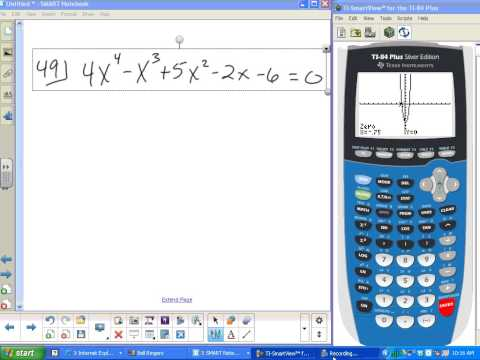 finding zeros of polynomial functions using a calculator