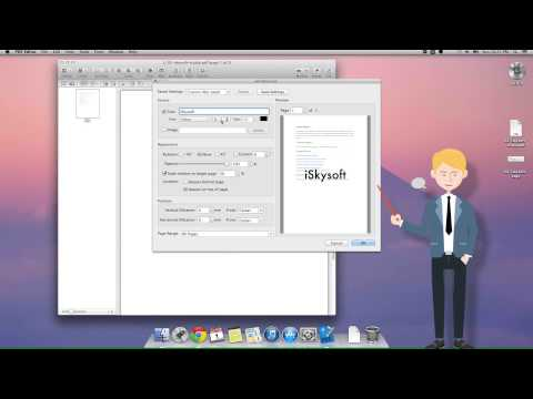 How to Add Watermarks to PDF on Mac OS X (Including 10.10 Yosemite)