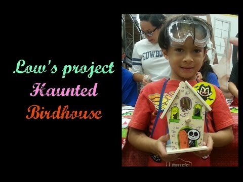 Lowe's project Haunted birdhouse