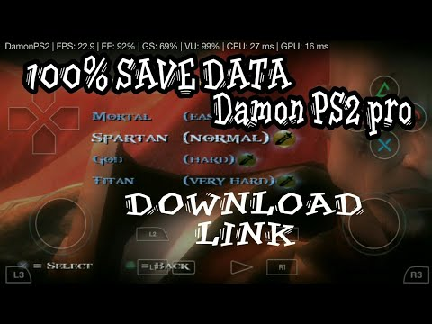 How to Download God Of War 2 Save Data On Damon PS2 pro