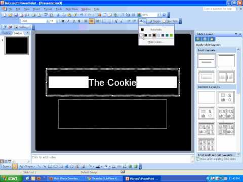 PowerPoint2003-Changing Background and Inserting an Image
