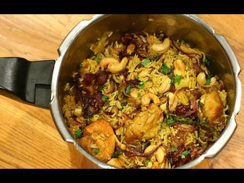 Chicken Biryani in Pressure Cooker with english translation (in description box)