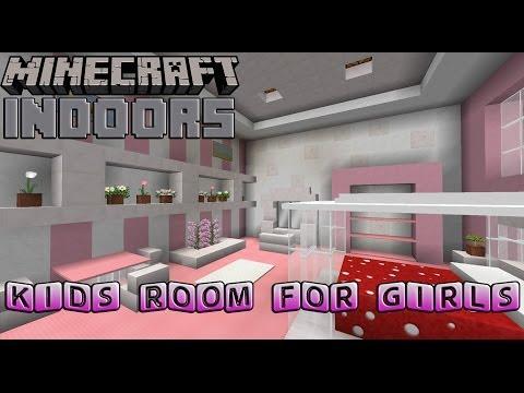 Kids Bedroom for Girls - Minecraft Indoors Interior Design