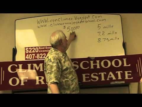 The Climer School Explaining Property Taxes For The Florida Real Estate Exam