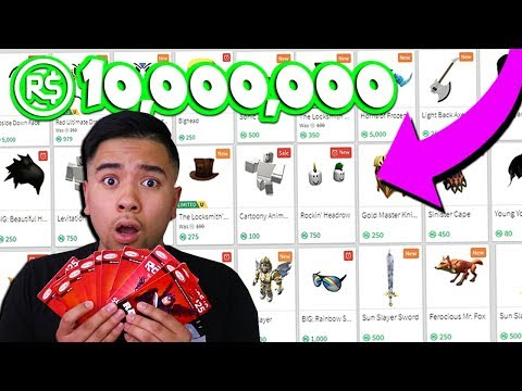 BUYING ALL NEW & SALE ITEMS IN THE CATALOG! *ALL MY ROBUX* (Roblox)