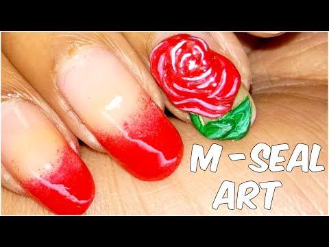 Rose Nail Art using M-Seal