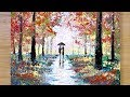 Download Aluminum painting technique / How to draw a couple under umbrella MP3,3GP,MP4