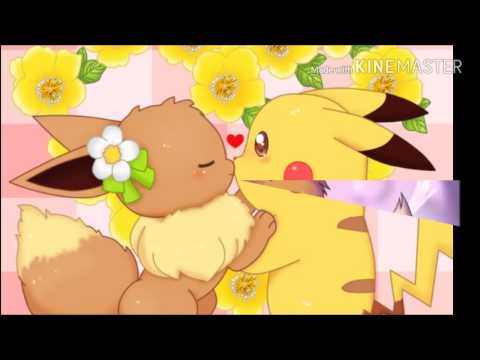Pikachu x eevee Amourshipping~every time we touch