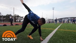 Pittsburgh Steelers Player Runs Boot Camp For Troops At Military Base | TODAY