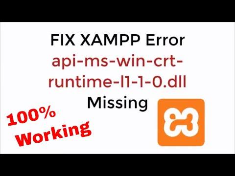 FIX XAMPP Error api-ms-win-crt-runtime-l1-1-0.dll Missing 100% Working UPDATED