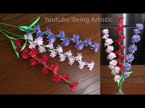 Paper Flower Stick - DIY - Paper Craft - Handcraft
