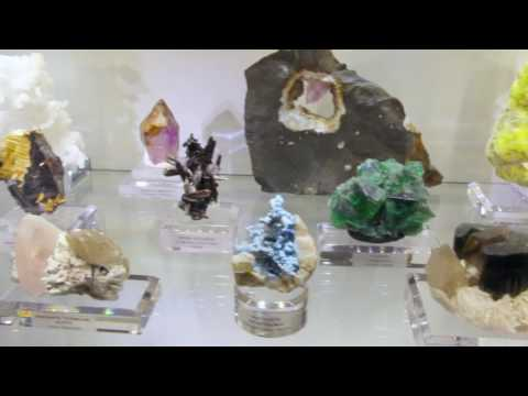Our Main Mineral Display Case as of June 28, 2016