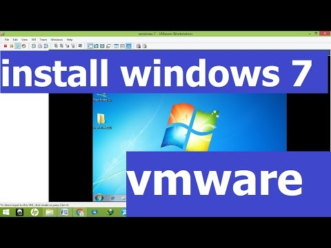 install window 7 in vmware