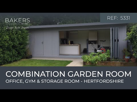 Combination Garden office, gym and store by Bakers Timber Buildings