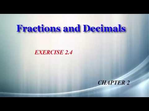 Fractions and Decimals 2.4