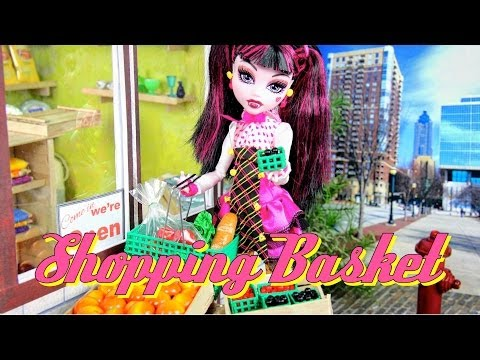 DIY - How to Make: Doll Shopping Basket - Handmade - Doll - Crafts