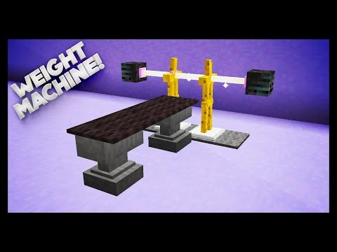 Minecraft - How To Make A Weights Machine-PhoenixProGaming747e