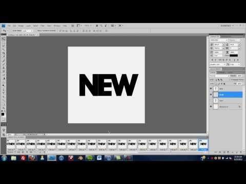 Photoshop Tutorial: Sliding Text GIF
