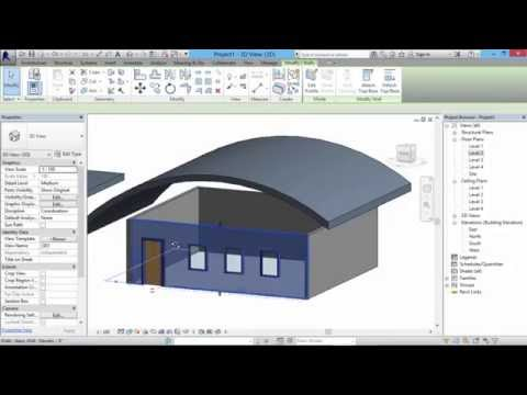 How to create different types of roofs in Revit 2014